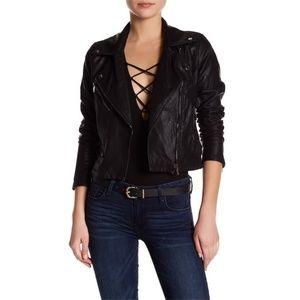 NWT BlankNYC Faux Leather Moto Jacket Vegan